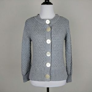 Tommy Hilfiger Sweater Cardigan Gray Snap Buttons